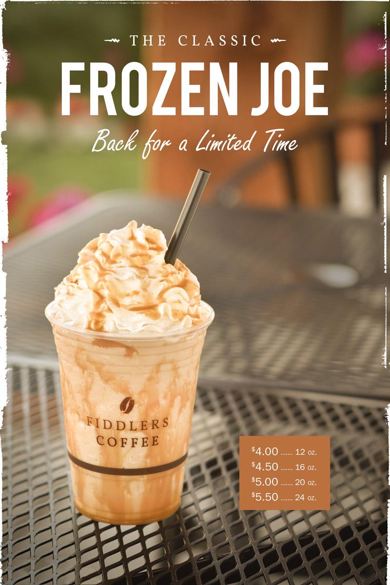 Fiddlers Coffee - Frozen Joe 02 - poster design