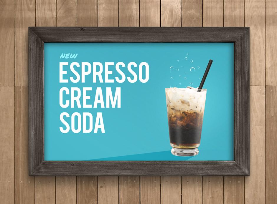 Fiddlers Coffee - Espresso Cream Soda - poster design