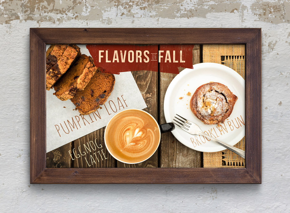 Fiddlers Coffee - Flavors of Fall - poster design