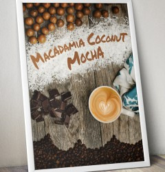 Fiddlers Coffee - Macadamia Coconut Mocha - poster design