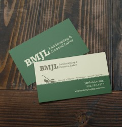 BMJL - business card design