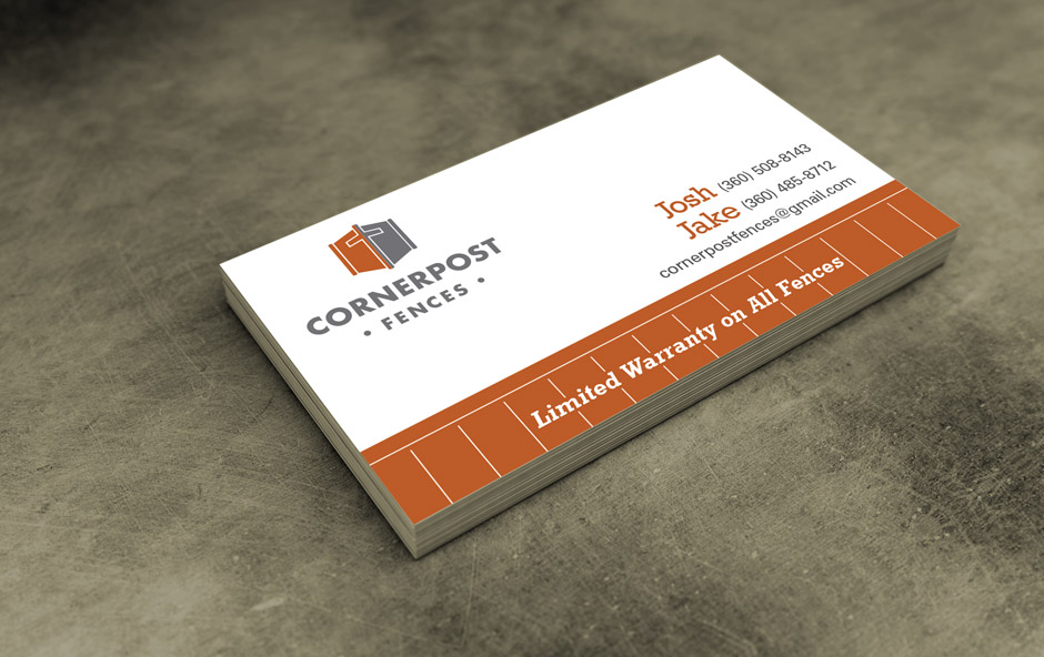 Cornerpost Fences - logo and  business card design