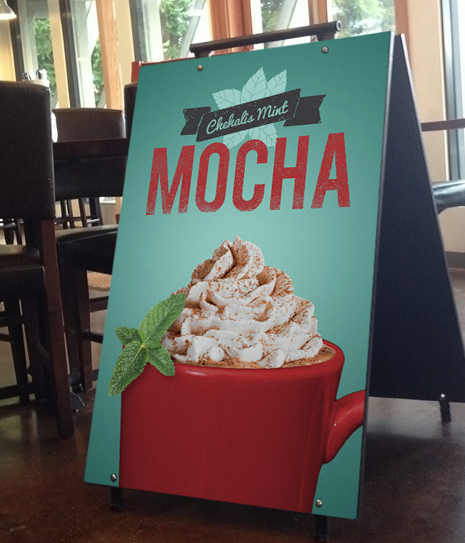 Fiddlers Coffee - Chehalis Mint Mocha - poster design 02
