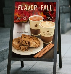 Fiddlers Coffee - Flavor of Fall - poster design