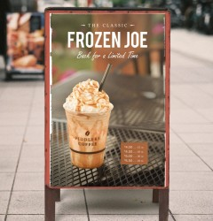 Fiddlers Coffee - Frozen Joe - poster design