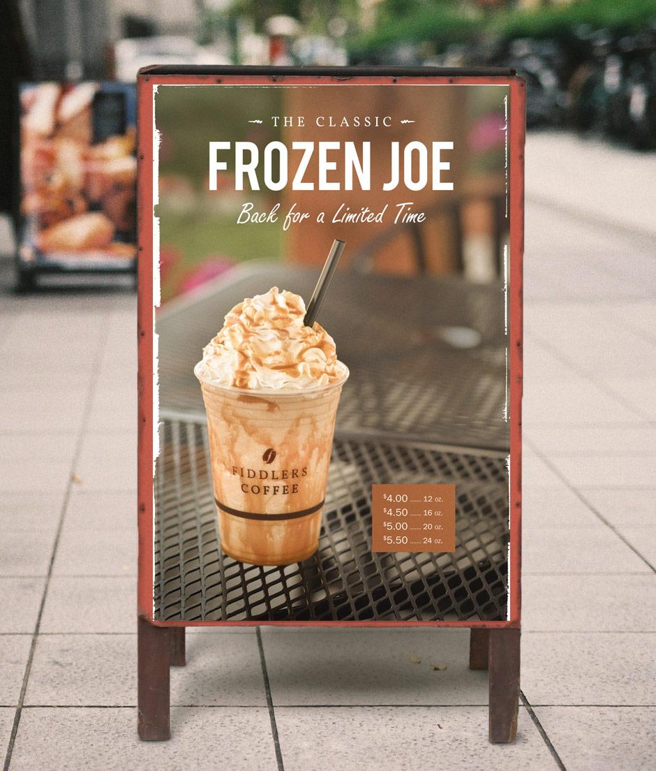 Fiddlers Coffee - Frozen Joe - poster design