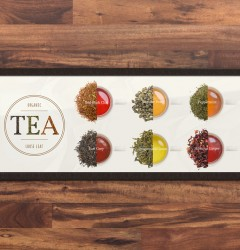 Fiddlers Coffee - Loose Leaf Tea - poster design