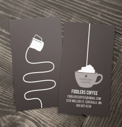Fiddlers Coffee - business card design