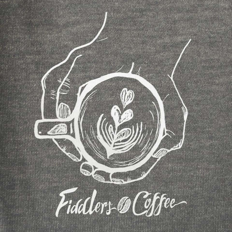 Fiddlers Coffee - shirt design - logo