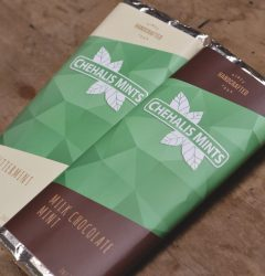 Chehalis Mints - chocolate bar - wrapper design