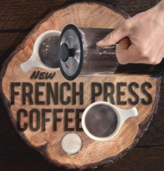 Fiddlers Coffee - French Press - poster design