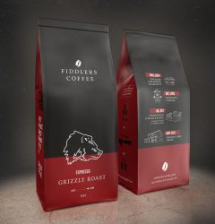 Fiddlers Coffee - coffee bag design