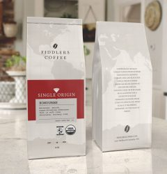 Fiddlers Coffee – coffee bag design