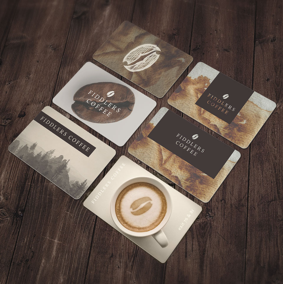 Fiddlers Coffee - gift card design
